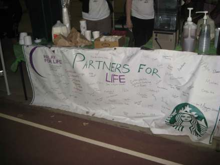 Starbucks at Relay For Life